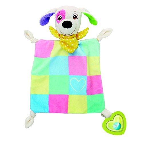 Chicco Charlie la Mantita - Suave y colorida mantita con portachupetes o para sujetar el mordedor