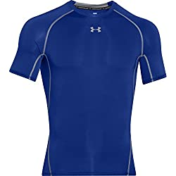 Under Armour Ua Hg Armour SS, Camiseta de Manga Corta para Hombre, Azul (400), XL
