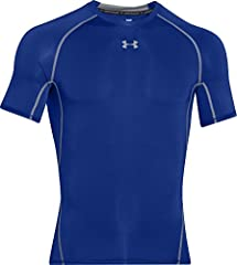 Idea Regalo - Under Armour, Heatgear Armour Ss, Maglietta A Maniche Corte, Uomo, Blu (Royal/Steel 400), S
