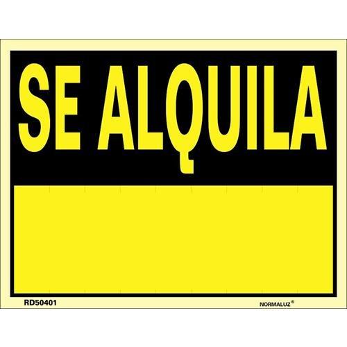 Cartel Se Alquila PVC Glasspack 0,4 mm 45x70 cm Normaluz RD51401
