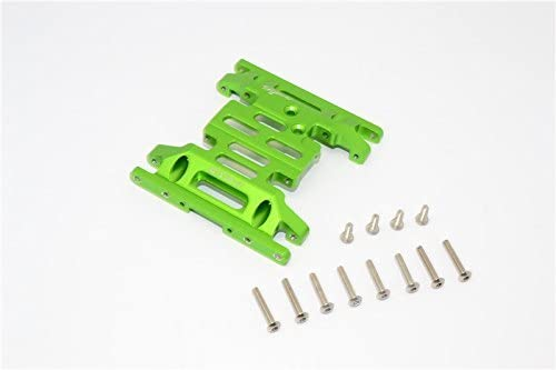 Axial SCX10 SCX10 SCX10 II Upgrade Pièces (AX90046) Aluminium Gear Box Bottom Mount - 1Pc Set Green | Brillance De Couleur