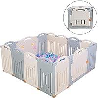 Parques de juegos Centro de actividades para ni/ños Besrey Parque de beb/é modulable plegable Castillo juego de seguridad Infantil con 14 Panel Parque Infantil