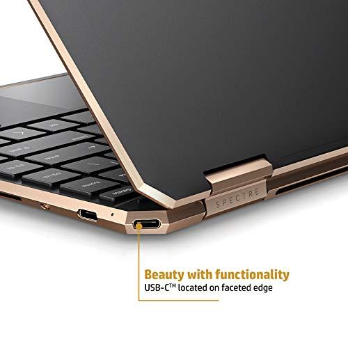 HP Spectre x360 Core i5 10th Gen 13-inch FHD Touchscreen Laptop (8GB/512 GB SSD/Windows 10/MS Office 2019/Dusk Black/1.27 kg), 13-aw0204TU Image 3