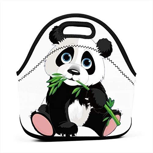 Bamboo Panda Freezable Lunch Bag with Zip Closure