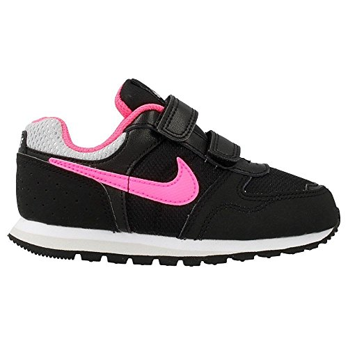 Nike MD Runner Kids Kinder Sneaker Infant Girls Schnürschuh Sport Schuh, Schuhe Grey/Mango