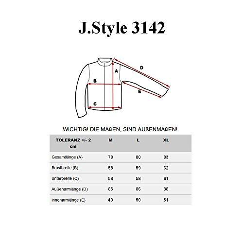 BOLF – Veste – Boutons – Manteau – J.STYLE 3142 - Homme Noir