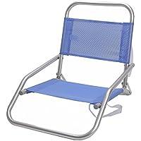 Silla de playa plegable de aluminio azul Garden - Lola Home