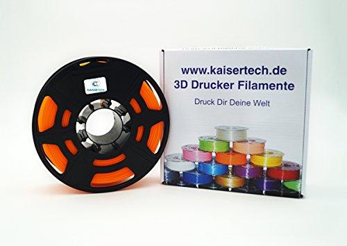 Filament Kaisertech pour imprimante 3D 1Kg de PLA / ABS 1,75mm / 3mm – Qualité supérieure et couleurs assorties pour Makerbot, RepRap, MakerGear, Ultimaker et bien plus encore