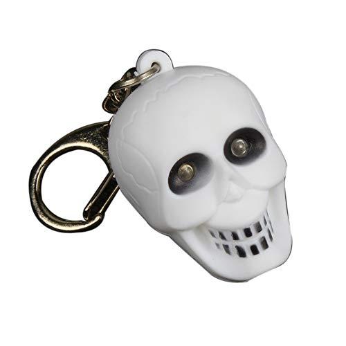Clearance Deal! Hochwertiges Produkt. Schlüsselanhänger mit Halloween-Knochen und Ghost LED-Sound, Schlüsselanhänger als Geschenk Armband As Show weiß