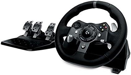 Logitech G920 Driving Force Volante da Corsa per Xbox One/PC, Nero