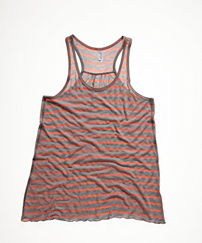 Flowy racerback tank top Athletic Bella Canvas Streetwear Canotta Donna Athletic Heather/ Neon Pink
