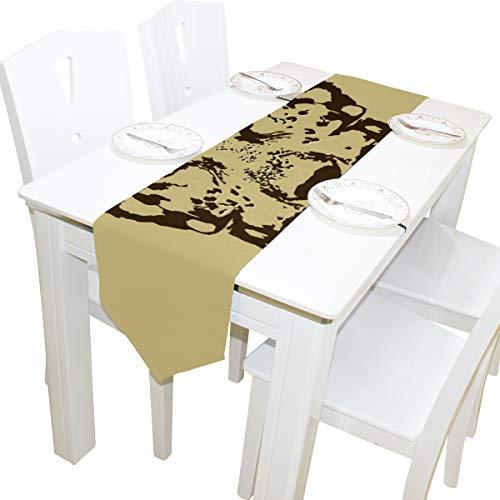 atze Mit Schmetterling Kommode Schal Tuch Abdeckung Tischläufer Tischdecke Tischset Küche Esszimmer Wohnzimmer Hause Hochzeitsbankett Decor Indoor 13x90 Zoll ()