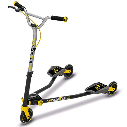 Scooter by smarTrike 222-1100 - Ski-RollerZ7, schwarz/gelb