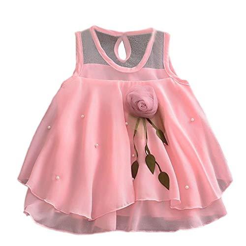 i-uend 2019 Baby Prinzessin Dress - mädchen ärmellose Feste tüllrock Blumen Party Prinzessin Kleider für 3-24monts