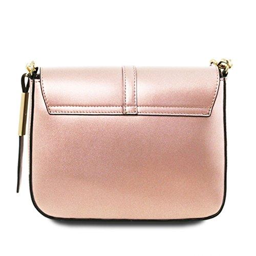 Tuscany Leather Nausica - Borsa a tracolla in pelle Ruga metallic - TL141642 (Rosa) Rosa