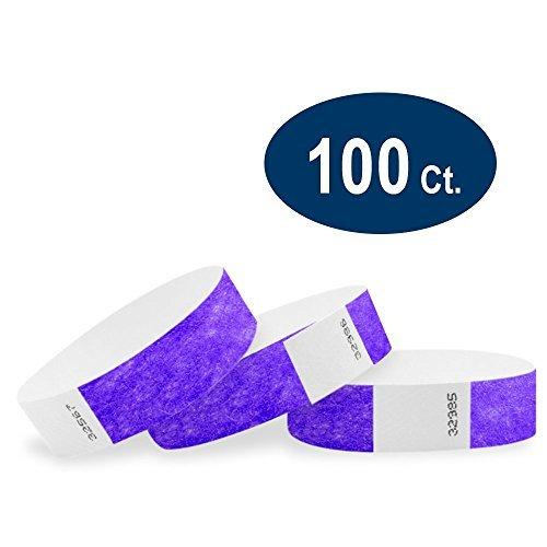 wristco–Armbänder aus Tyvek, 1,9cm, Violett 100 Count purpur