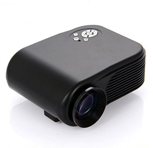 Express Panda HD Multimedia Mini LED Projector for Laptop Computers, Game Machines, DVD Players (VGA, HDMI, AV-IN, USB)