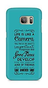 AMEZ life is like a camera Back Cover For Samsung Galaxy S7 Edge