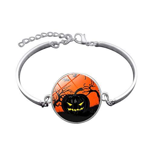 Adisaer Halloween Schmuck Handgemachte Halloween Kürbis Zeit Edelstein Armband Mode Armband Armband Herren Damen Alltag