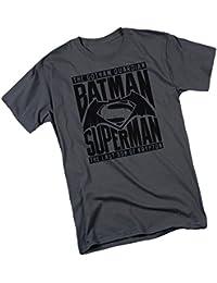 Title Fight -- Batman v Superman: Dawn Of Justice Adult T-Shirt