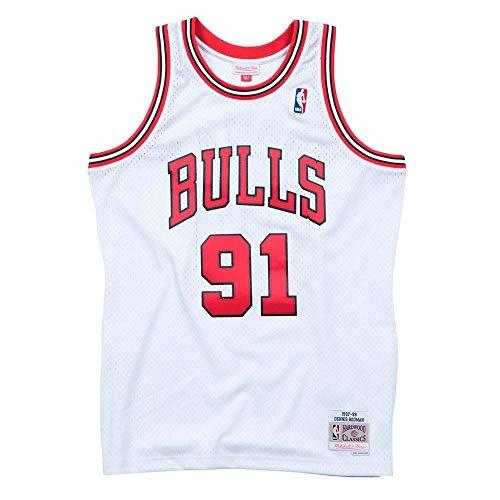 Mitchell   Ness Chicago Bulls Dennis Rodman Camiseta sin Mangas White e4ae4f53aed