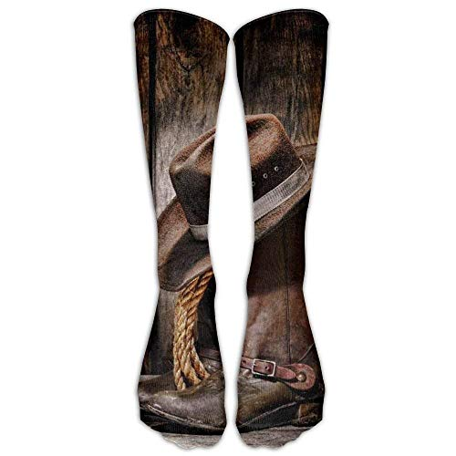 ruichangshichengjie Cowboy Boots Athletic Tube Stockings Women Men Classics Knee High Socks Sport Long Sock One Size - Classic High Camo Boot