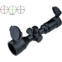 Rifle Scope Lunette De Visée 3-9x42 Rouge Compact Long Green Eye Relief Mil efdd37792fae