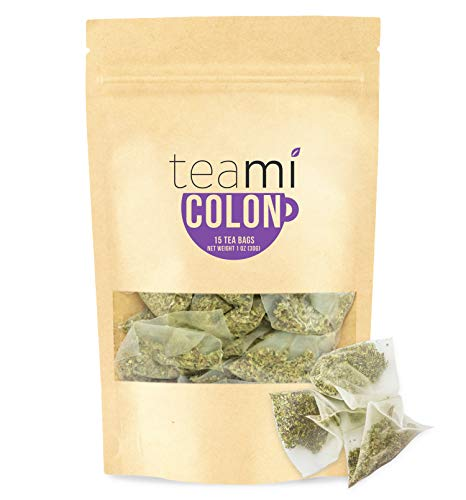 Teami Blends - Colon Cleanse Detox Tea - Helps in Weight Loss - Detoxify, Improves Digestion & Quality of Sleep - Natural Loose Leaf Tea Blend (15 Tea Bags) -