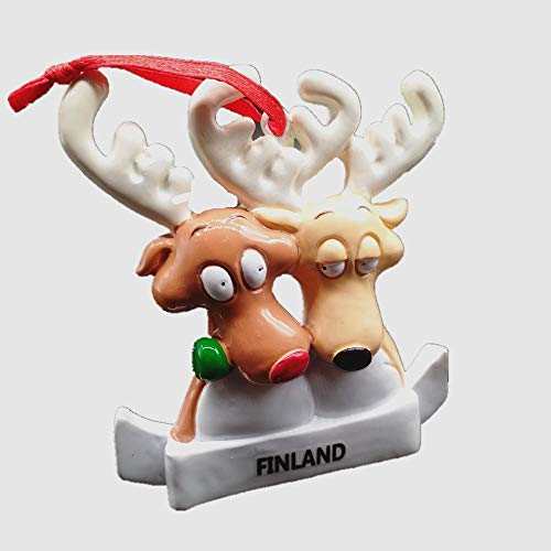 Elch-magnet (MUYU Magnet 3D Elch Deer of Finland Souvenir Kühlschrankmagnet, Home & Kitchen Dekoration, magnetischer Aufkleber Finnland Kühlschrankmagnet Reise Souvenir Geschenk)