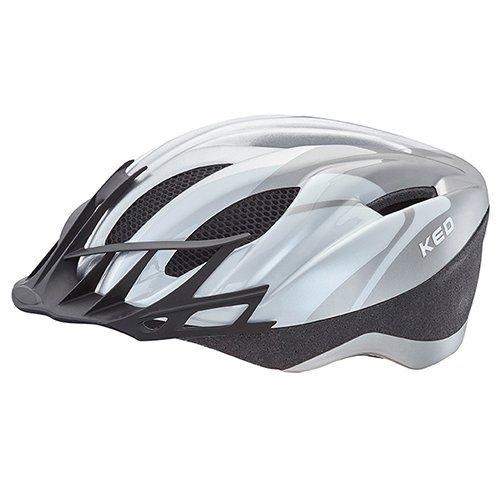 KED Fahrradhelm City in der Größe XXL (Kopfumfang 60-64cm) mit der Farbe Silver, Extrem Gut Belüfteter Allrounder-Helm in Robuster maxSHELL- Technologie