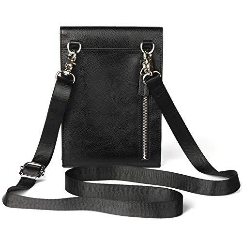 Schwarze Leder-handy-halter (Xuanbao-BB Unisex Gürteltasche Männer echtes Leder Handy Halter Tasche gürteltasche kleine umhängetasche 6,3 inch für iPhone 8 Plus Samsung not9 Hüfttasche Taille Reisetasche (Größe : Schwarz))