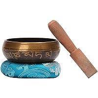CAHAYA Campana Tibetana 9,5cm di 7 Metalli per Buddismo Meditazione Yoga con Percussore di Legno