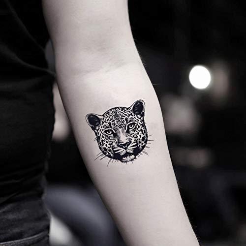Gepard temporäre gefälschte Tätowierung Aufkleber abwaschbares Tattoo (Set von 2) - TOODTATTOO.COM