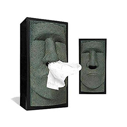 Once ZY Time Stein Taschentuchspender Hochformat rechteckig Tissue Cover Box harziger Tissue Halterung Einfache Installation Cool Halloween Home Badezimmer Büro Hotel Auto Decor (Halloween-papier-handtücher)