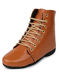 Meriggiare Women Synthetic Tan Boots 41 EU
