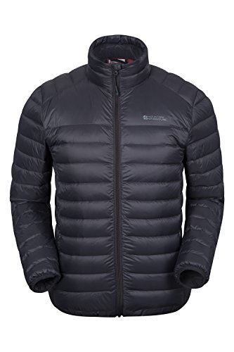Mountain Warehouse Federleichte Herren-Daunenjacke Dunkelgrau Medium