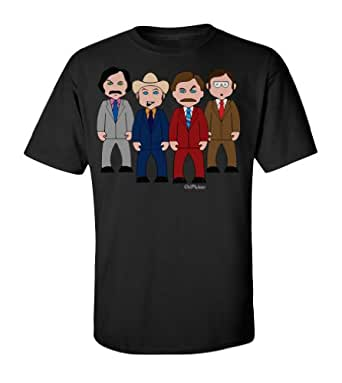 VIPWees Channel 4 news team mens t shirt cult unique retro movie gift