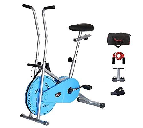 Lifeline Exercise Bike Combo (Blue) with Gym Bag,Sweat Belt,Tummy Trimmer...