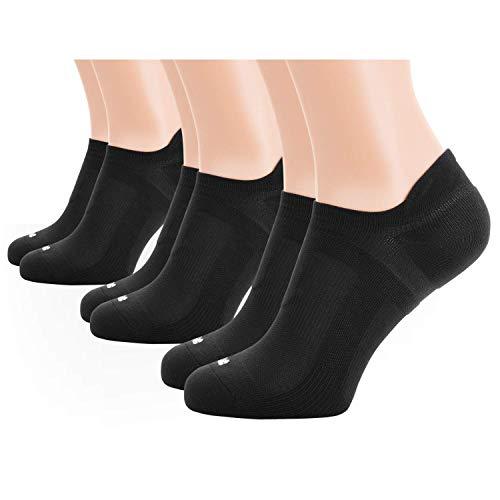 M-Tac Running Socken No Show Low Cut Herren Sport Athletic Kissen-3Paar Pack, Herren, Black 3 Pairs, Large - Cushioned No-show-sport-socken