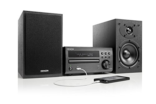 Denon D-M 40 - Sistema de audio (WMA y MP3, 30 W), color negro