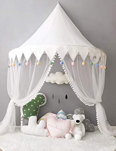 Ciel de Lit Enfant Décoration de Lit Bébé Moustiquaire Baldaquin Fille Garçon Tente de Lit Tentes Enfants Cadeau Naissance WBT