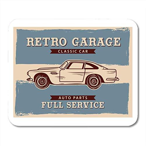 Deglogse Gaming-Mauspad-Matte, Auto Garage Old School Classic Vintage Retro Car Antique Mouse Pad, Desktop Computers mats