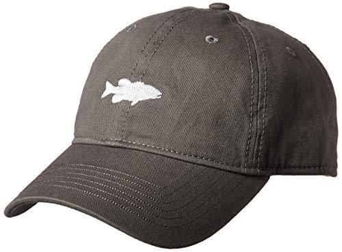 Ouray Sportswear Unisex Epic Washed Twill Cap, Dark Grey, Adjustable Damen-washed Twill Cap