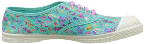 Bensimon Tennis Lacet Liberty, Baskets Basses Femme Multicolore (Feuilles Purple)