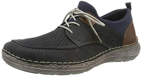 Rieker 03055-14, Zapatos Cordones Derby Hombre, Azul