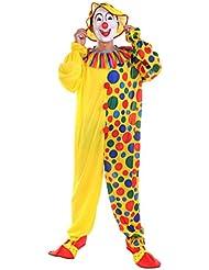 NiSeng disfraces para hombres Mono de payaso adultos con sombrero Halloween Clown Disfraz de payasos de circo lunares Carnaval Cosplay