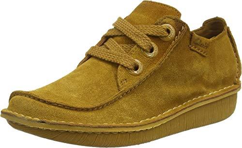 Zapatos de Cordones para Mujer amarillo mostaza