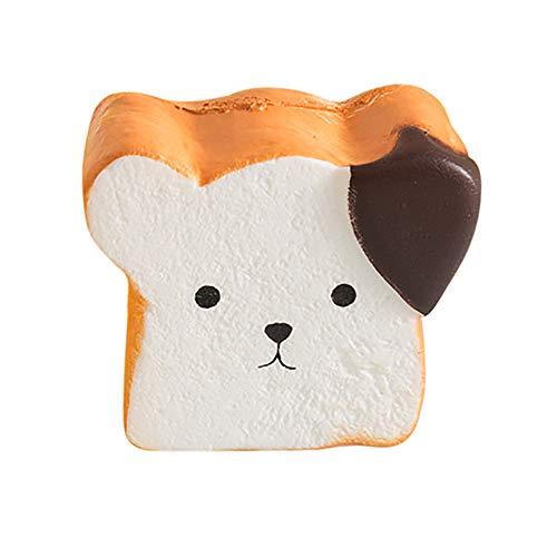 TianranRT Liebenswert Simuliert Toast Brot Super Verlangsamen Steigen Kinder Spielzeug Stress Reliever Spielzeug (Crystal Brot-box)