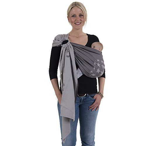 Hoppediz Ring Sling (Jacquard Los Angeles Grey)