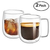 Le verre double Wall WZOED est un choix idéal pour chaque boisson, du café chaud aux cocktails! ★ Caractéristique du produit: Matériel sain-le verre de qualité de cristal est sans BPA et sans plomb. Aucune odeur particulière. Haute qualité-la concept...